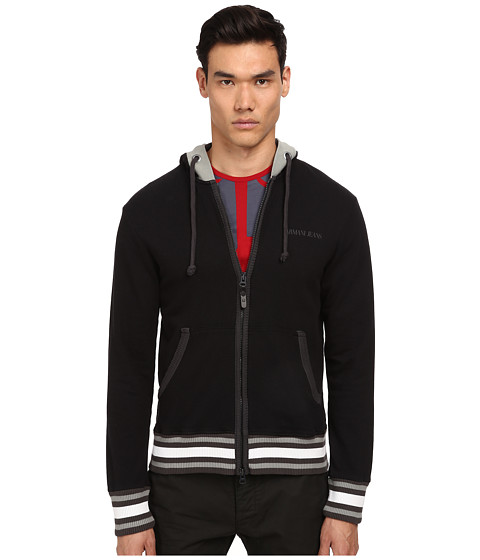 Armani Jeans - Fleece Hoodie (Black) Men