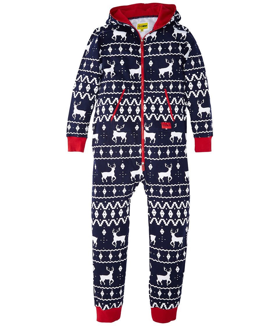 tipsy elves - Fair Isle Ugly Christmas Jumpsuit (Navy Blue) Jumpsuit & Rompers One Piece