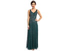 Adrianna Papell Long Beaded Dress (Hunter)