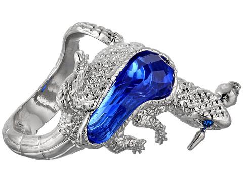 Alexander McQueen - Salamander Ring (Silver/Blue) Ring
