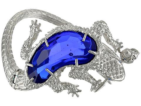 Alexander McQueen - Reptile Bracelet (Silver/Blue) Bracelet