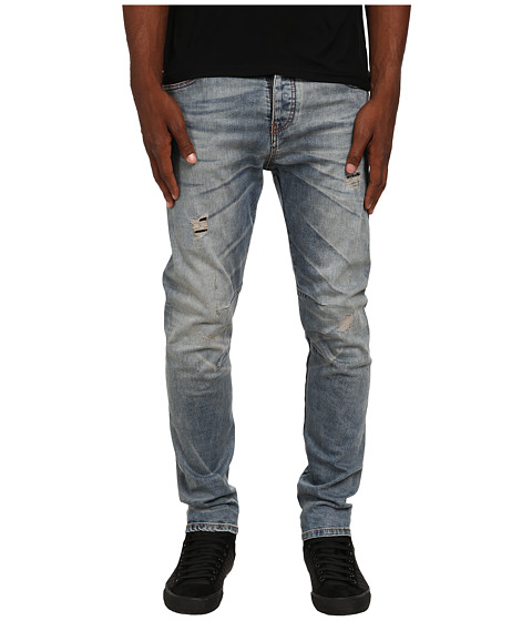 Armani Jeans - Low-Crotch Torque Rip Repair Denim in Torque (Torque) Men