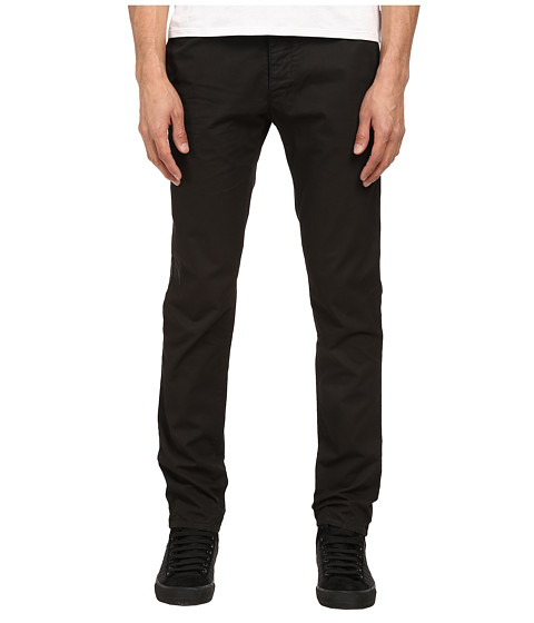 Armani Jeans - Garment Dyed Jean with Colored Weft in Black/Grey (Black/Grey) Men's Casual Pants