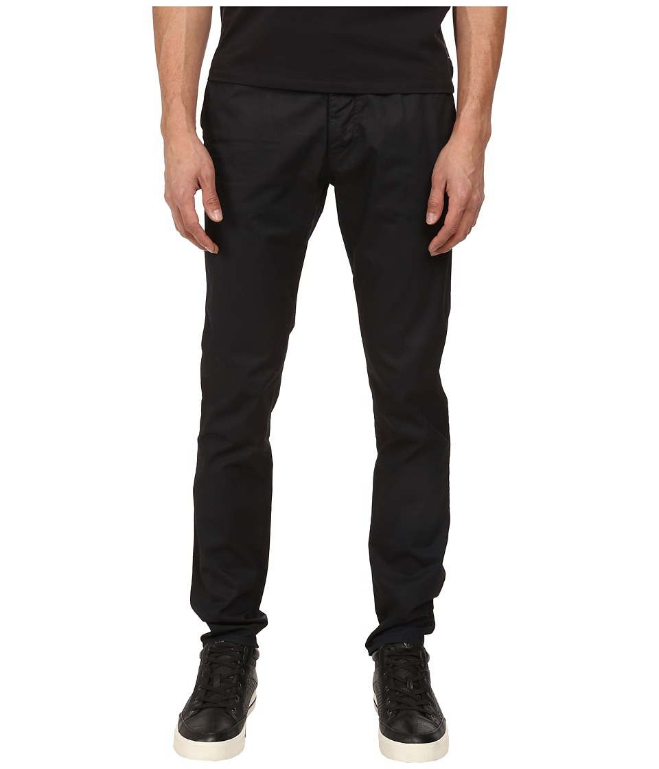 Armani Jeans - Garment Dyed Jean with Colored Weft in Navy / Cerulean (Navy / Cerulean) Men's Jeans