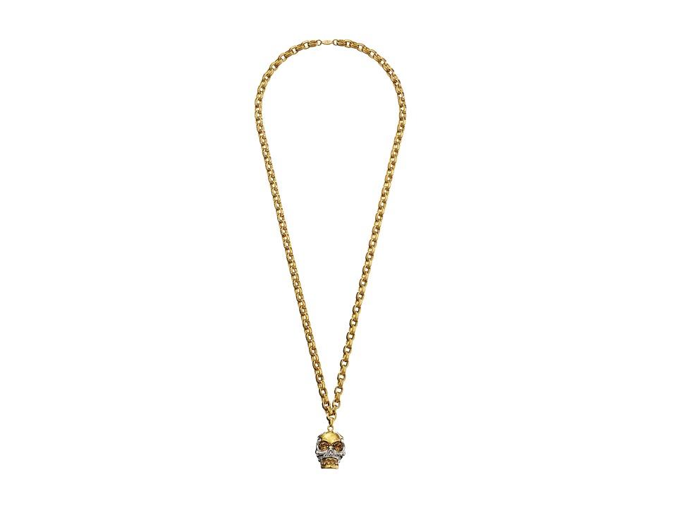 Alexander McQueen - Puzzle Skull Pendent (Topaz) Necklace