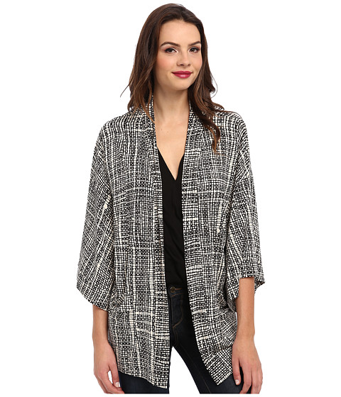 Rachel Pally - Jersey Kimono Jacket Print (Black Sisal) Women's Sweater