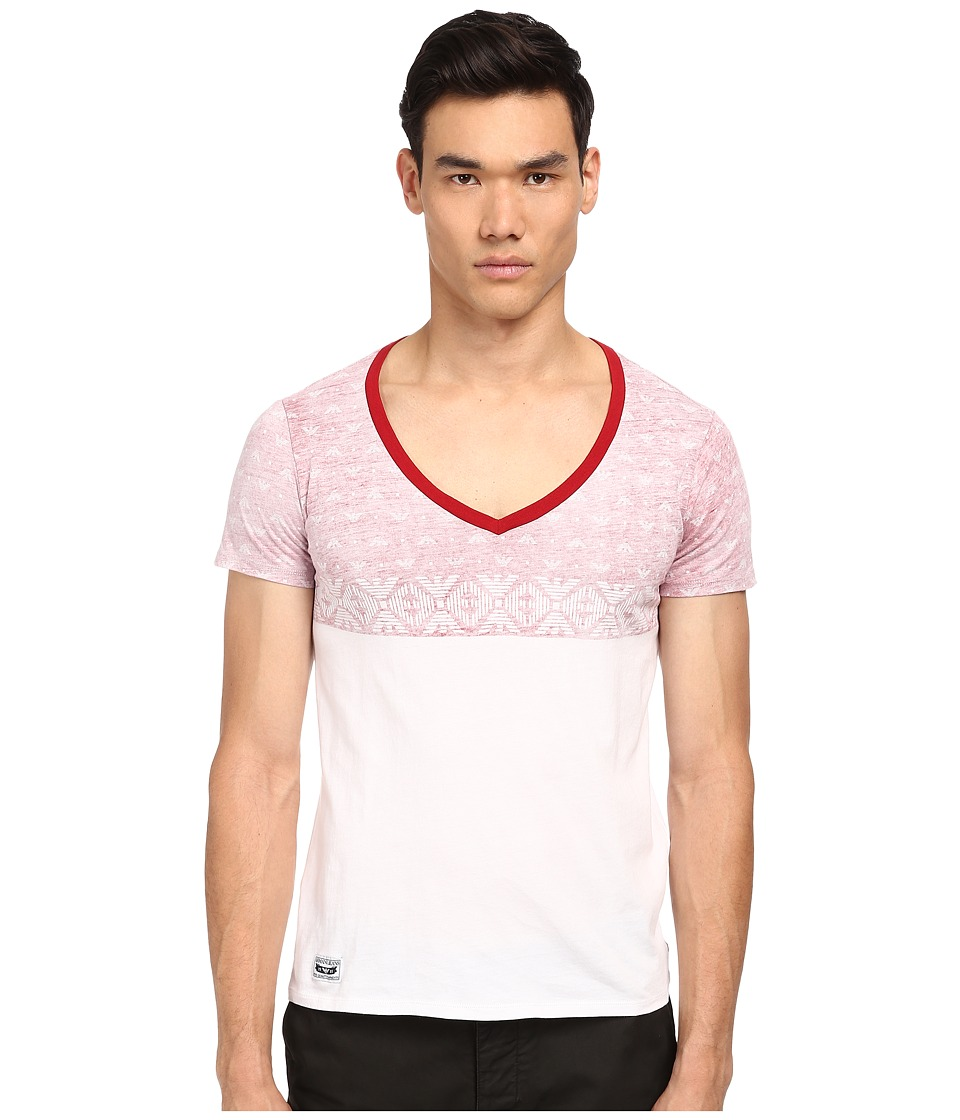 Armani Jeans - Stars V-Neck (White) Men