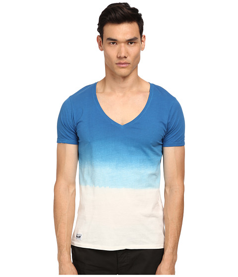 Armani Jeans - Ombre V-Neck (Blue/White) Men