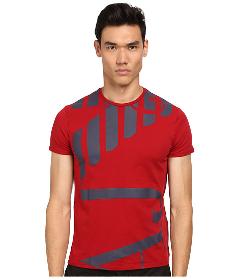 Armani Jeans - Abstract Side Logo Tee (Red) Men's T Shirt