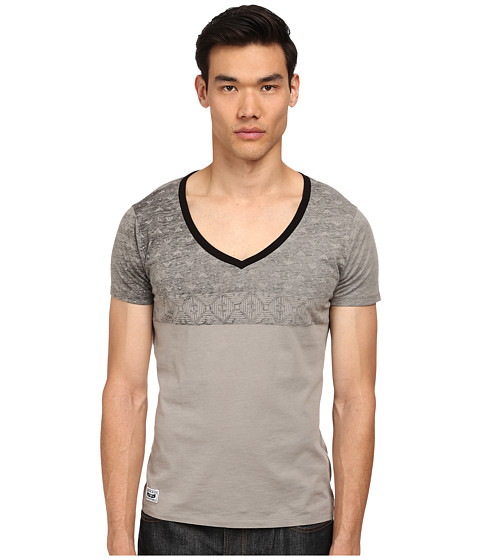Armani Jeans - Stars V-Neck (Grey) Men's T Shirt