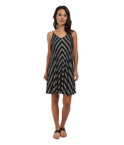 Culture Phit - Kelly Stripe Dress (Black) Women's Dress