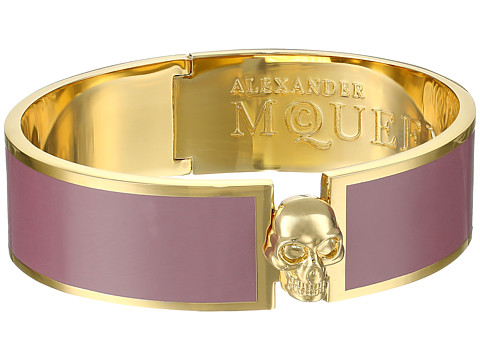 Alexander McQueen - Skull Button Enamel Cuff 19MM (Dusty Plum) Earring
