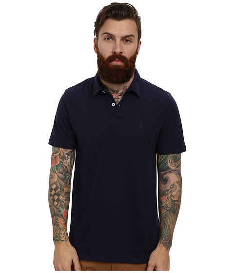 Volcom - Wowzer Polo (Navy) Men's Short Sleeve Knit