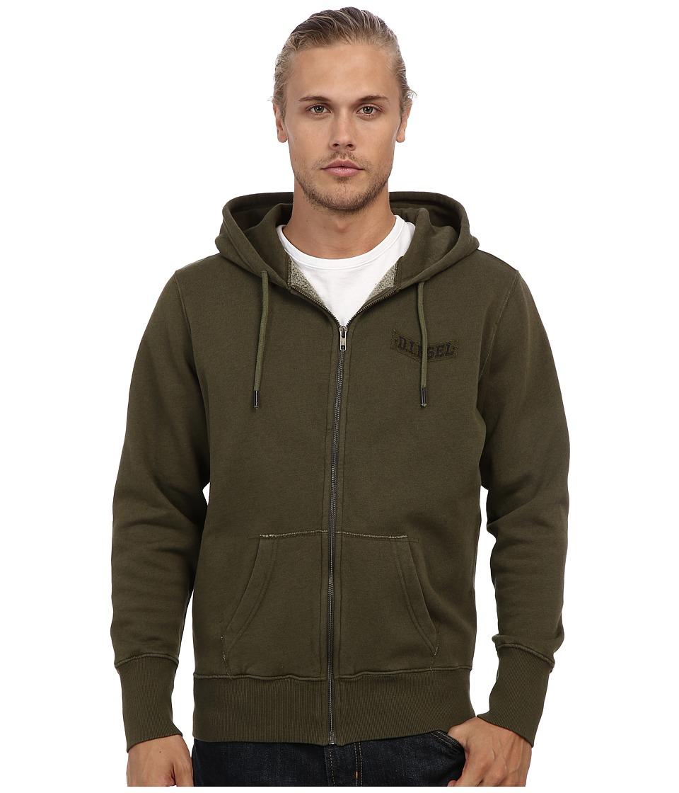 Diesel - S-D-P Sweatshirt (Olive/Green) Men's Sweatshirt