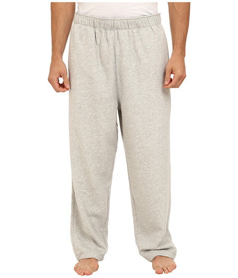 Nautica Big & Tall - Big Tall Chief Value Cotton Micro Fleece Knit Pant (Grey Heather) Men's Casual Pants