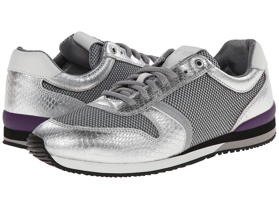 Just Cavalli - Mesh and Reflex Sneaker (Silver) Men