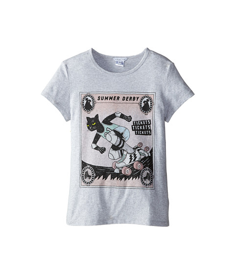 Little Marc Jacobs - Roller Printed Tee Shirt (Big Kid) (Grey) Girl