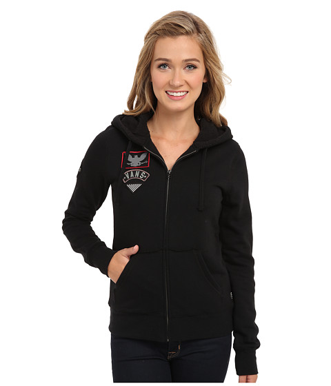 Vans - Dazed Zip Hoodie (Black) Women's Sweatshirt