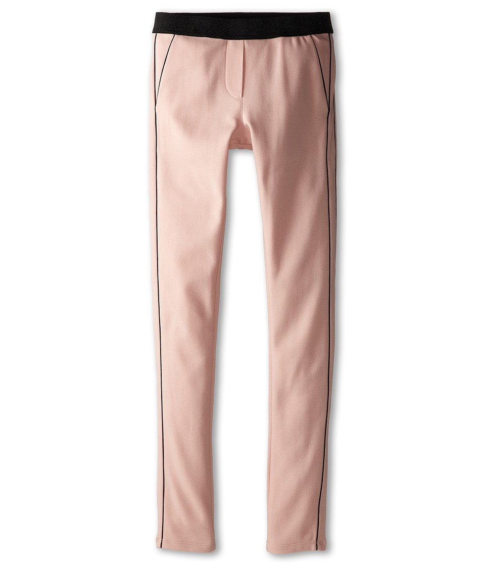 Little Marc Jacobs - Milano Fabric Lurex Waist Pants (Big Kid) (Light Pink) Girl's Casual Pants
