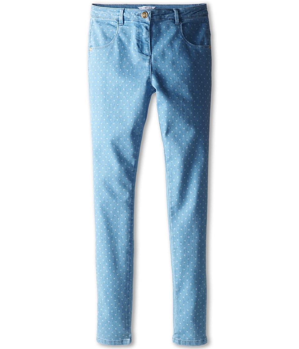 Little Marc Jacobs - Dot Print Denim (Big Kid) (Bleach) Girl's Jeans