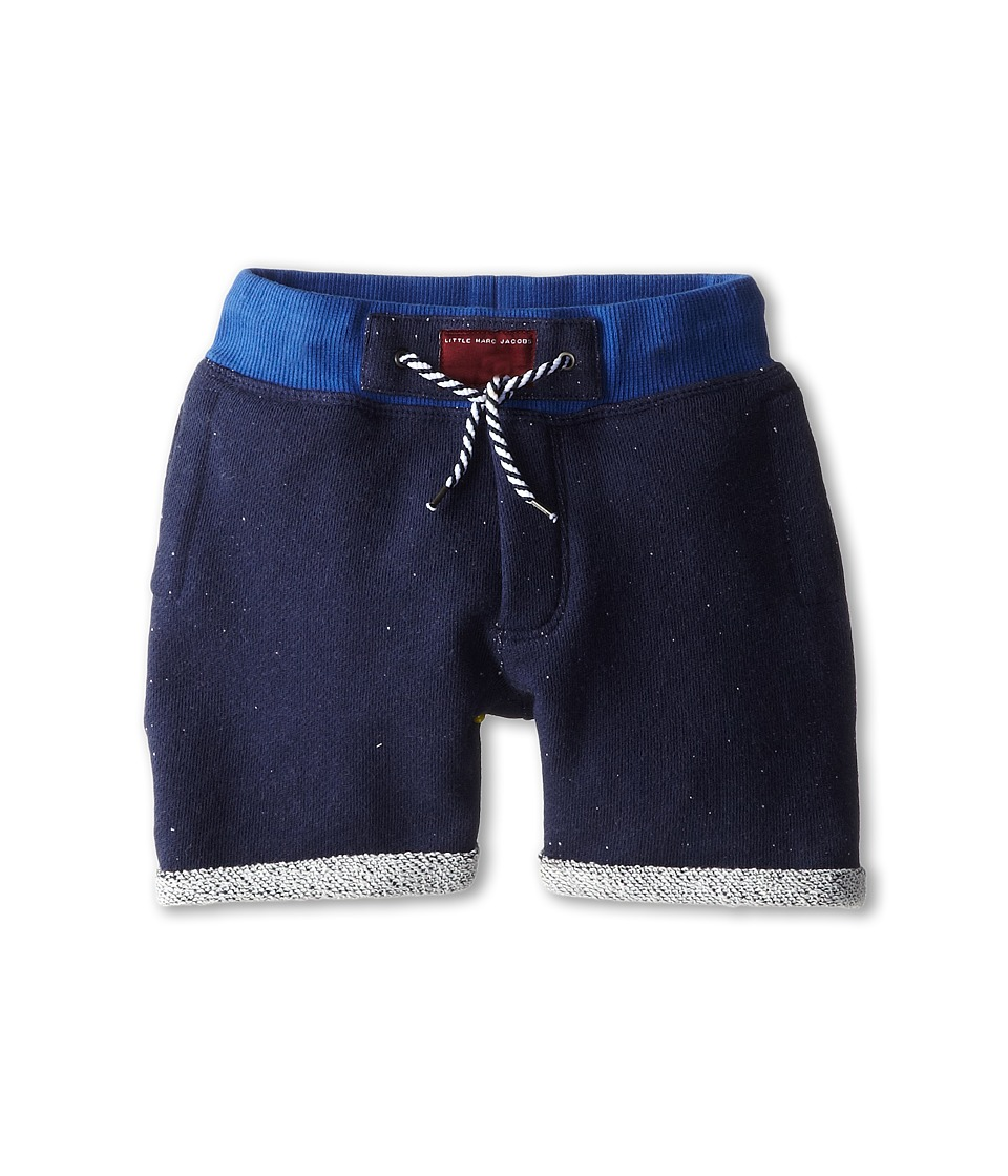 Little Marc Jacobs - Shorts with Logo Detail (Toddle/Little Kid) (Blue) Boy's Shorts