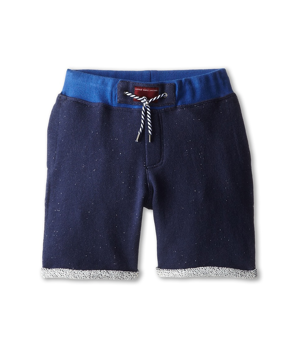 Little Marc Jacobs - Shorts with Logo Detail (Little Kid/Big Kid) (Blue) Boy's Shorts