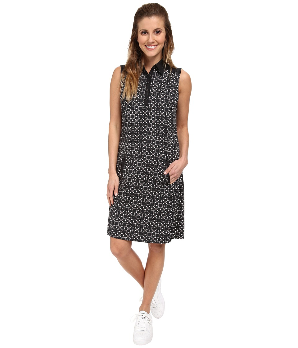 Tail Activewear - Cecelia Dress (Chain Pearls Print Black) Women's Dress
