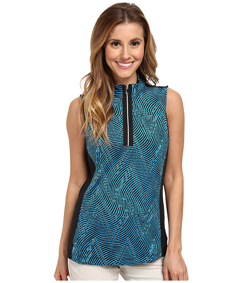 Tail Activewear - Alissa Brushed Jersey Mock Neck (Oceania Print) Women's Sleeveless