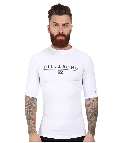 Billabong - All Day S/S Rashguard (White 1) Men's Swimwear