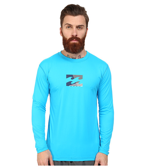 Billabong - Chronicle L/S Rashguard (New Blue 1) Men's Swimwear