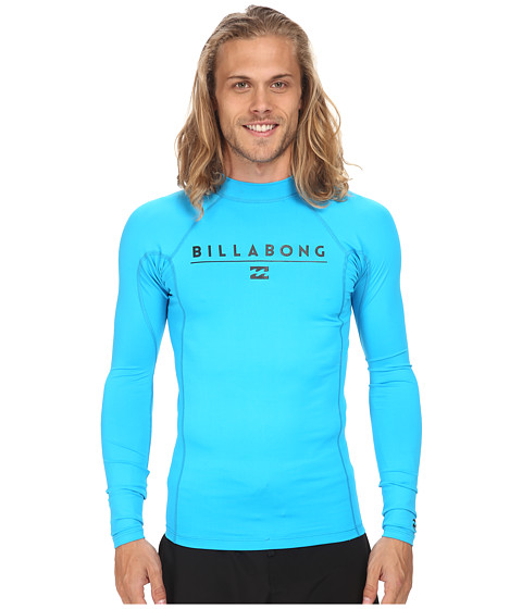 Billabong - All Day L/S Rashguard (New Blue 1) Men