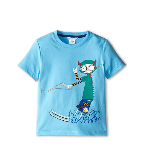 Little Marc Jacobs - Mr Marc Waterski Tee Shirt (Little Kid/Big Kid) (Iceberg) Boy's T Shirt