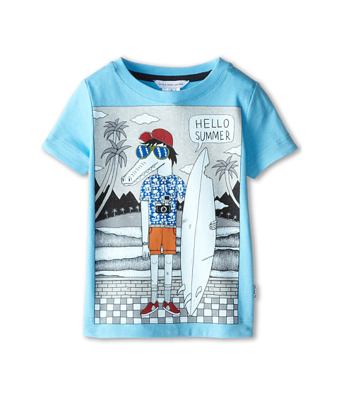 Little Marc Jacobs - Alligator Surf Board Tee with Shirt (Toddler/Little Kid) (Iceberg) Boy