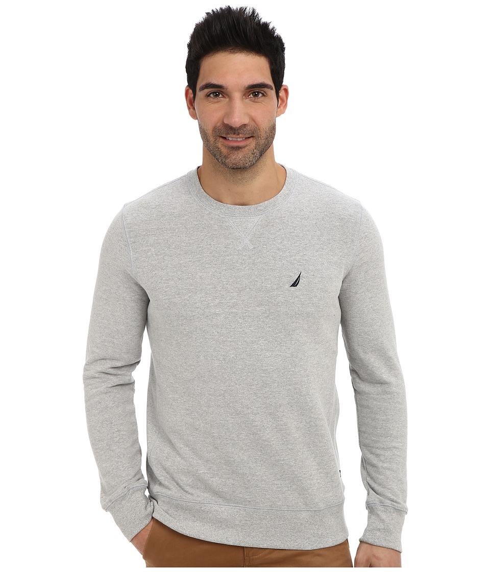 Nautica - L/S Crew Sweatshirt Knit Active (Grey Heather) Men's Sweatshirt