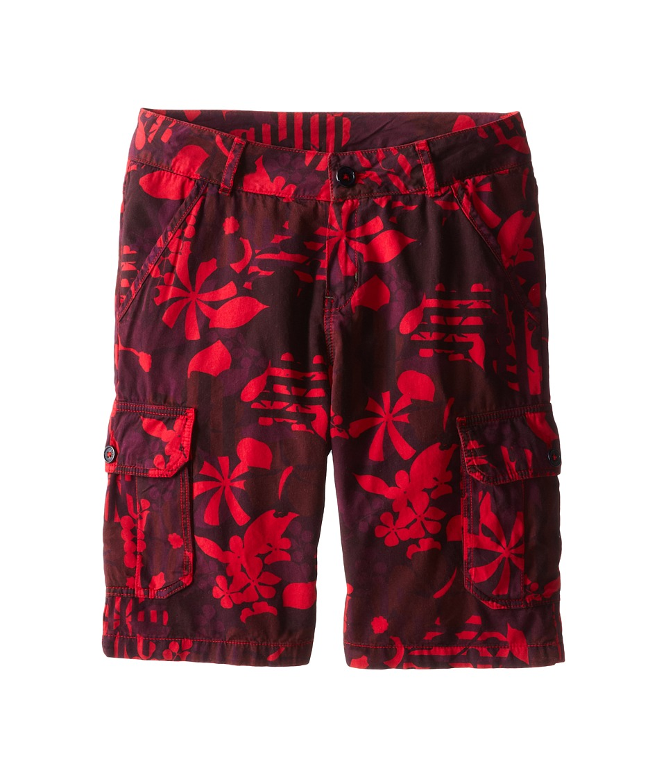 Little Marc Jacobs - Printed Cargo Shorts (Big Kid) (Red Print) Boy's Shorts