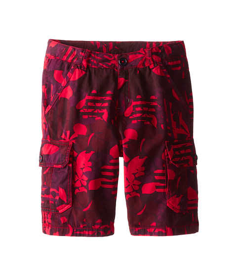 Little Marc Jacobs - Printed Cargo Shorts (Little Kid/Big Kid) (Red Print) Boy's Shorts