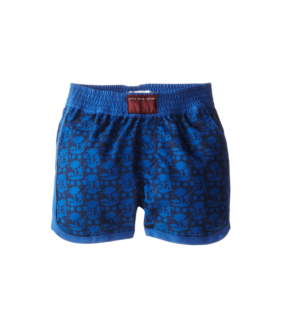 Little Marc Jacobs - Printed Swim Trunks (Infant) (Med Blue) Boy's Swimwear