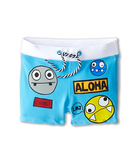 Little Marc Jacobs - Printed Characters Swim Trunks (Infant) (Iceberg) Boy's Swimwear