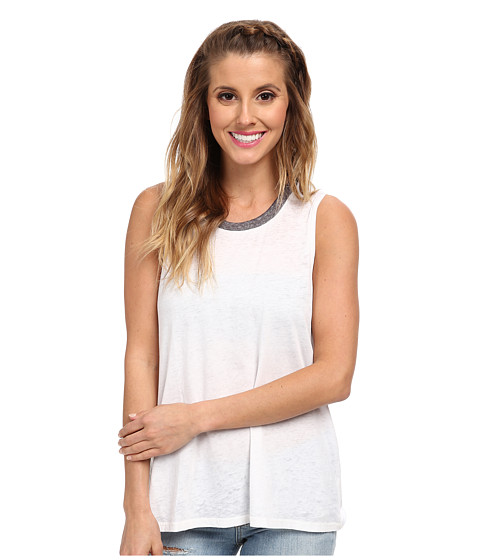Billabong - Essential Muscle Tee (White) Women's Sleeveless