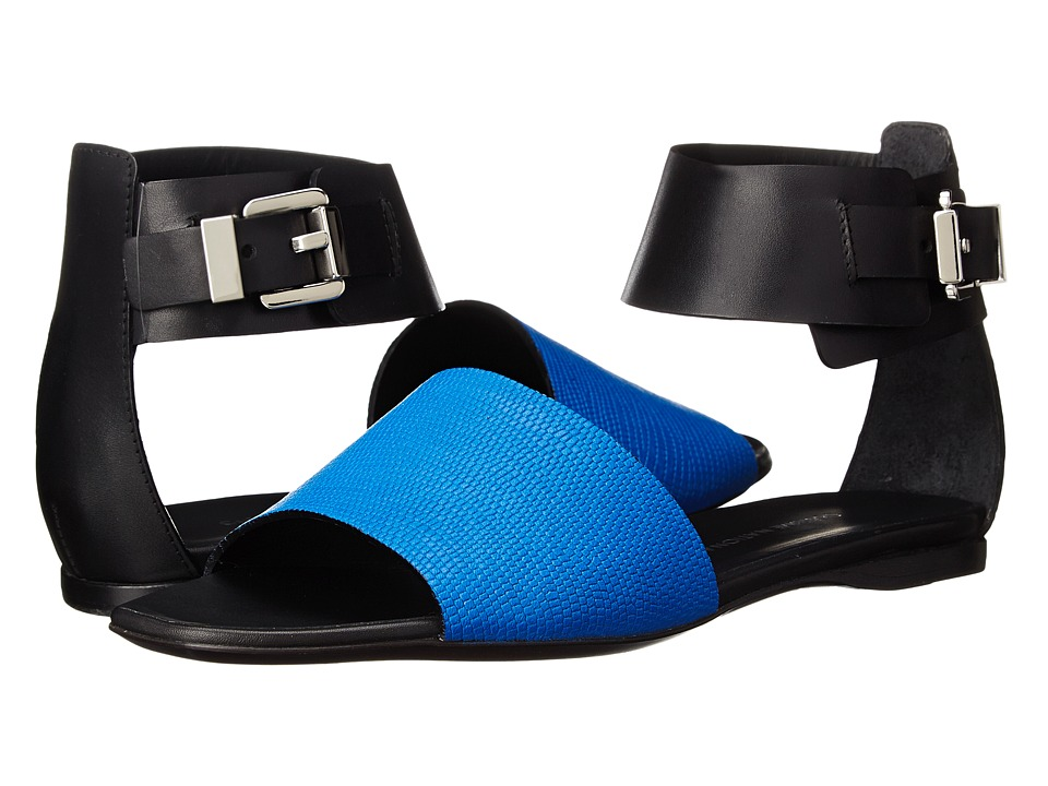 CoSTUME NATIONAL Color Block Flat Sandal (Royal) Women