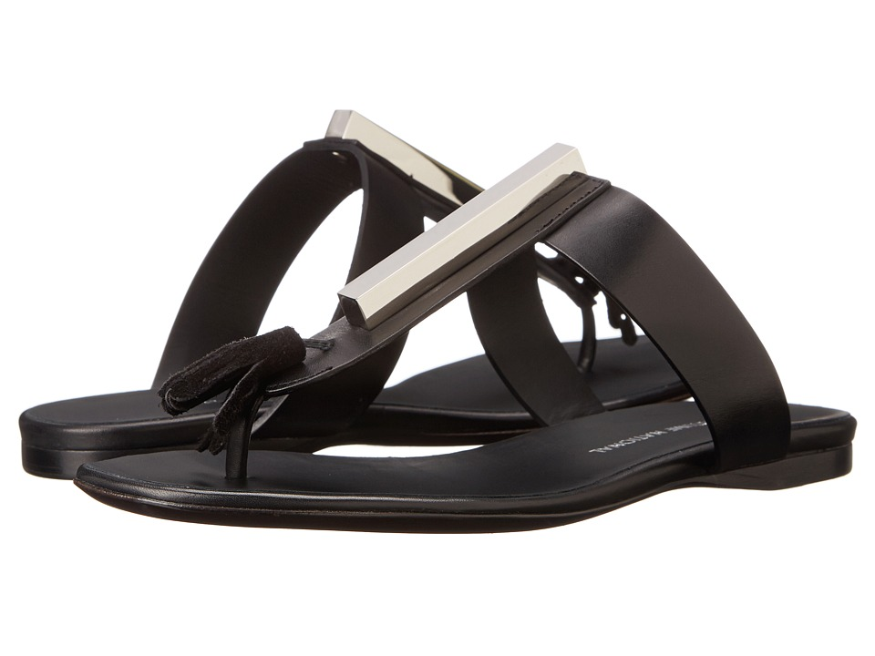 CoSTUME NATIONAL Tassle Flat Sandal (Black) Women