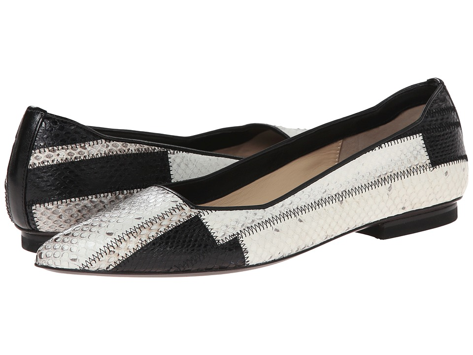 CoSTUME NATIONAL - Patchwork Ballet Flat (Black/White Ayers) Women's Flat Shoes