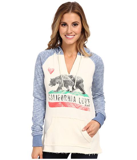 Billabong - Days Off V-Neck Pullover Hoodie (Vivid Blue) Women's Sweatshirt