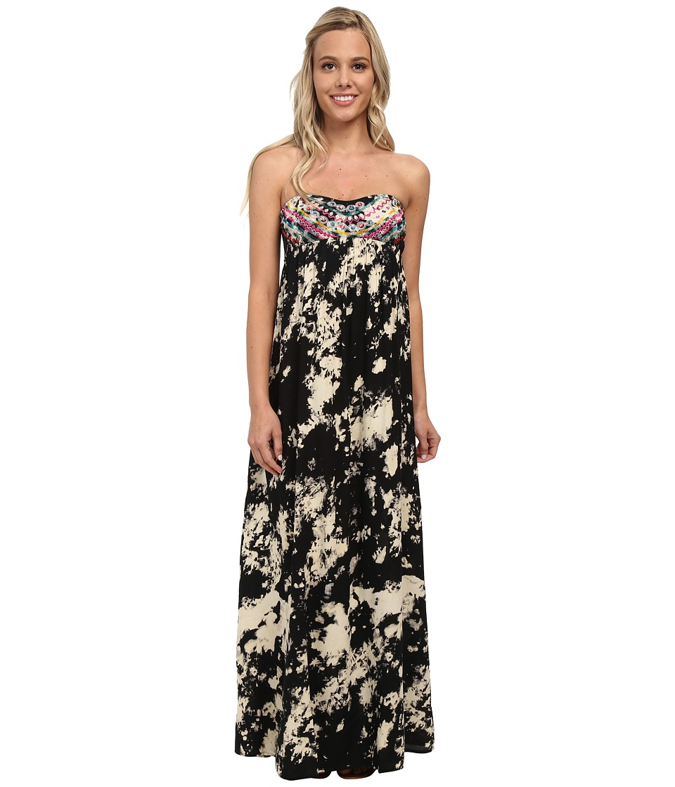 Billabong - Sweep Me To The Sea Maxi Dress (Off Black) Women's Dress