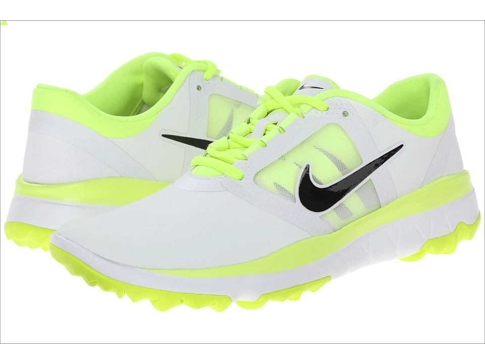 Nike Golf - FI Impact (White/Volt/Black) Women's Golf Shoes