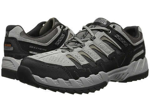 SKECHERS - Outland Thrill Seeker (Gray/Black) Men's Lace up casual Shoes