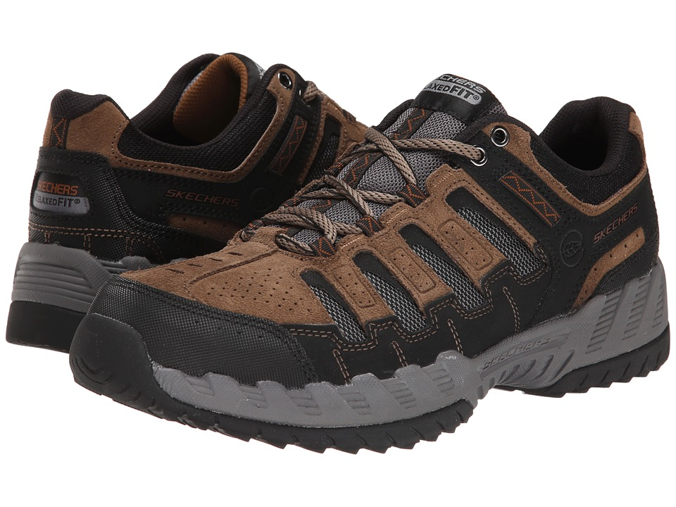 SKECHERS - Outland Thrill Seeker (Taupe/Black) Men's Lace up casual Shoes