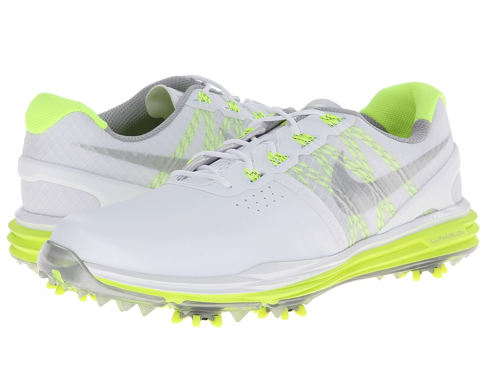 Nike Golf - Lunar Control (White/Volt/Metallic Silver) Women's Golf Shoes