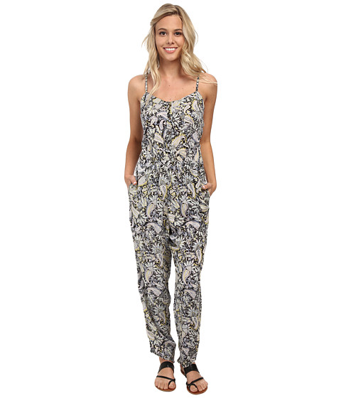 Billabong - Steal the Night Pant Jumper (Off Black) Women's Jumpsuit & Rompers One Piece