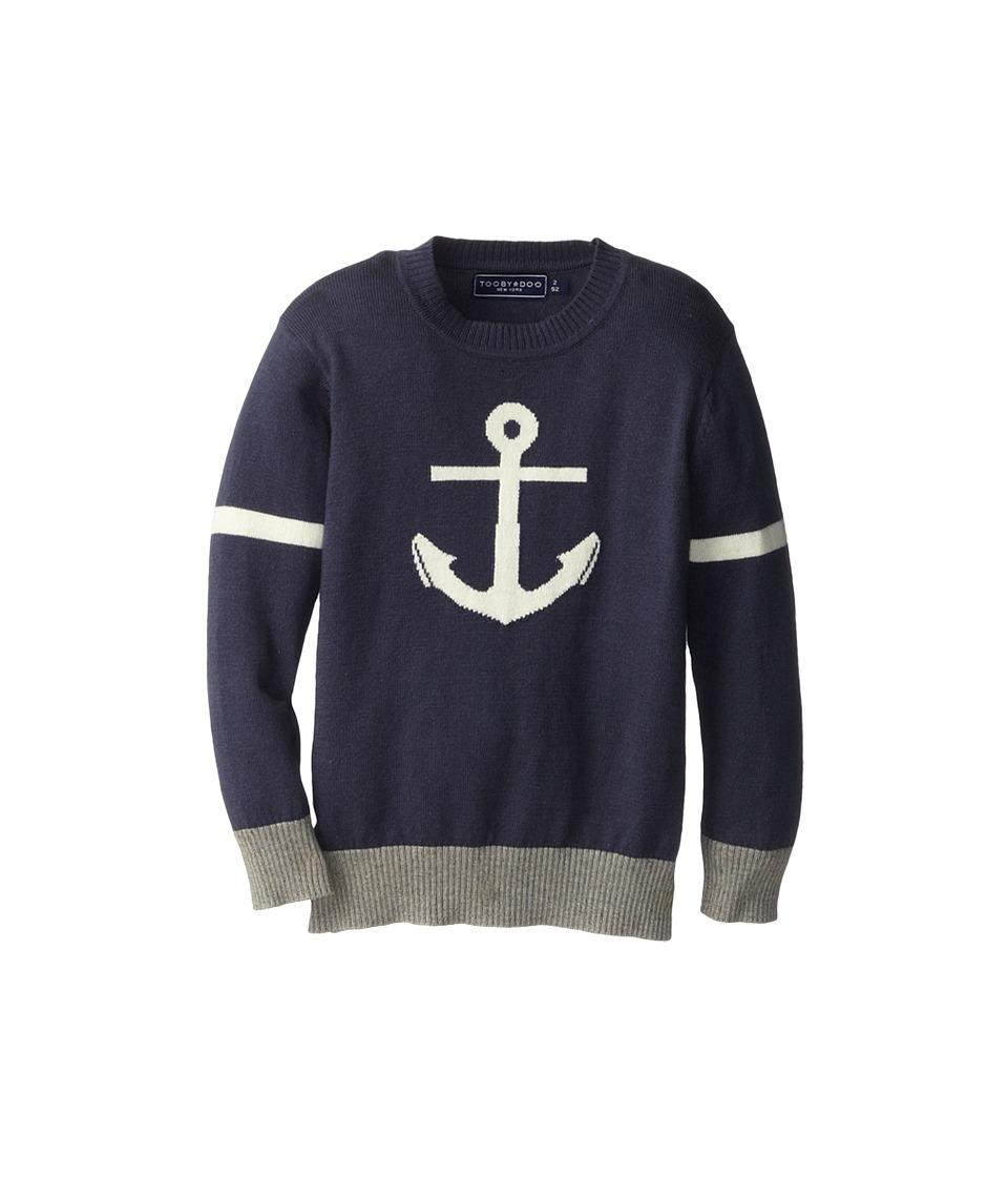 Toobydoo - The Nantucket - Cashmere Blend (Toddler/Little Kids/Big Kids) (Navy) Boy's Sweater